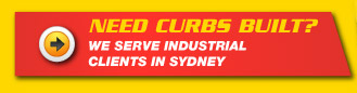 Need Curbs Built? We serve industrial clients in Sydney.